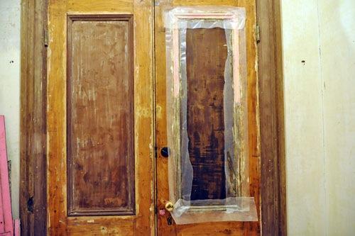 Peel-Away on the front door