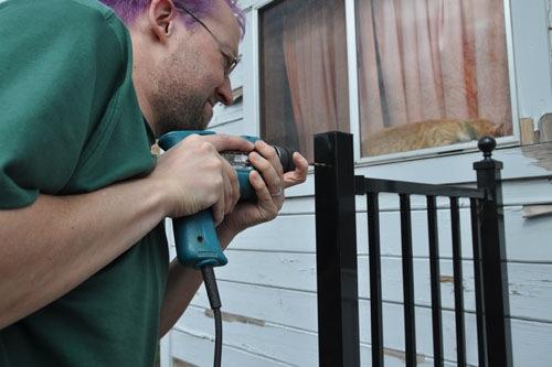Installing the upper bracket