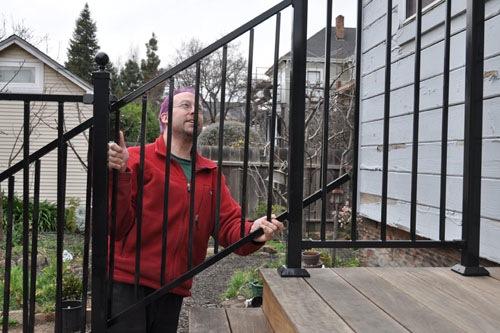 Smaller railing