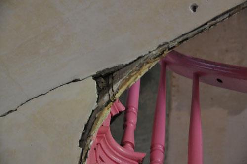 Damaged woodwork that needs repairing