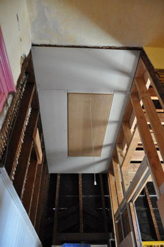 A hallway ceiling!!