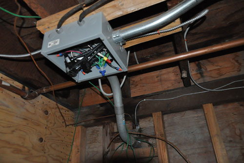 The junction box in the basement