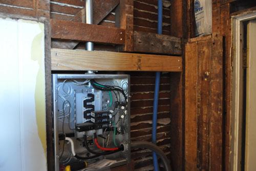 Blocking to install paneling