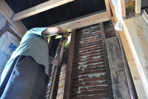 Removing lath