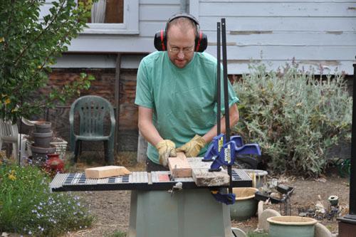 Making sawhorses