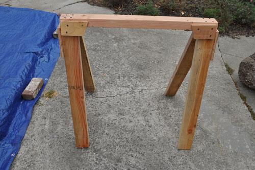 Test sawhorse