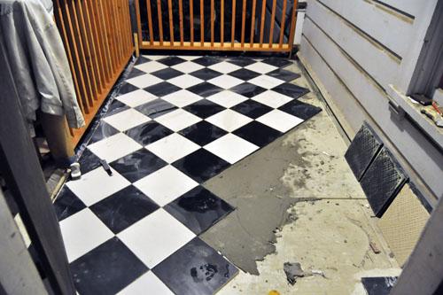 More porch floor