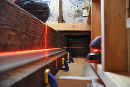 The laser level jig