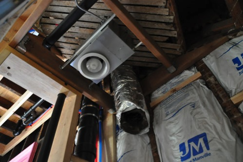 ventilation duct in downstair bathroom