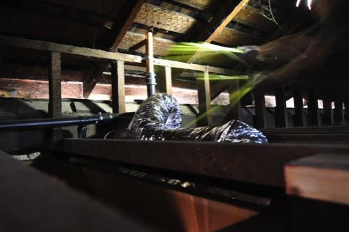 In the attic beforehand
