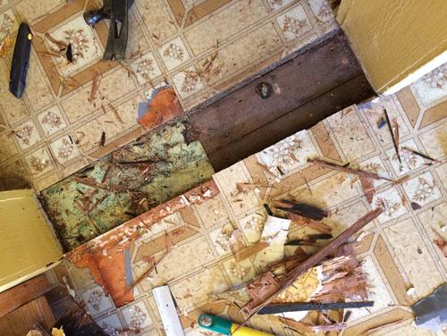 And we reach the original wood floor