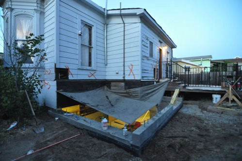 Backfilled foundation