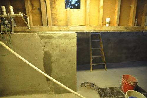 Skim coated walls