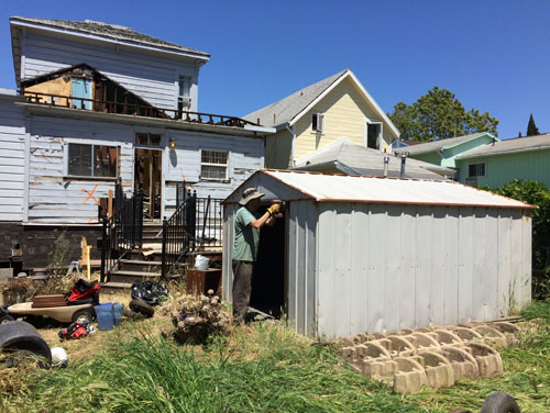The shed, before