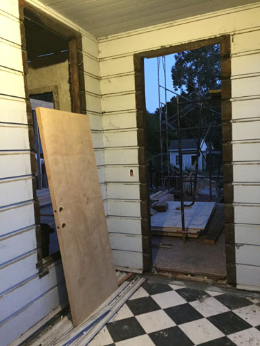 Window and door removed