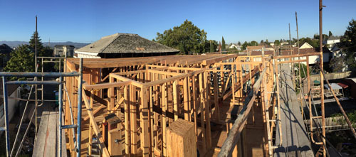 Panorama from the scaffolding