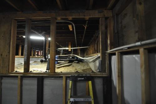 Crawlspace access door moved