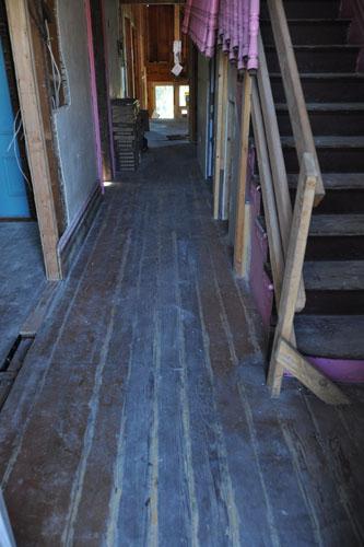The original hall floor