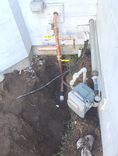 The water main at the house