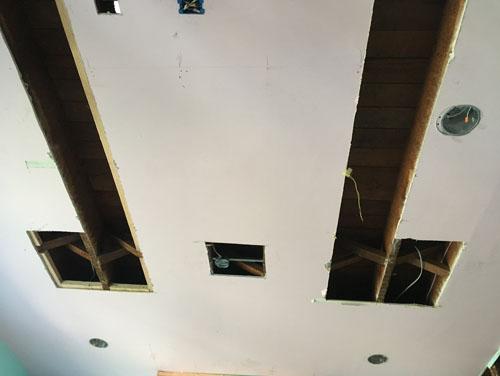 More holes in ceilings