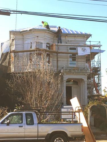 Roof installation underway