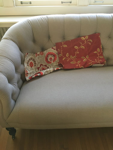 Sofa cushion fabrics