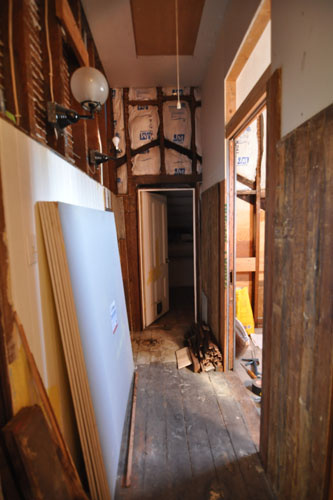 Bathroom hall before