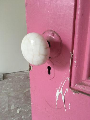 Upstairs back room knob
