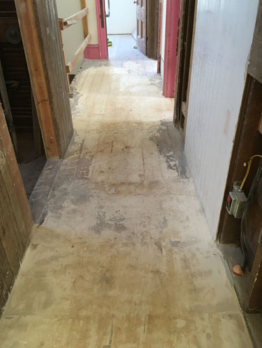 Lots of filler in the hallway