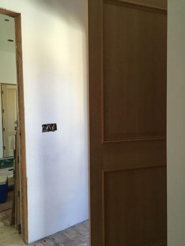 The side door going in