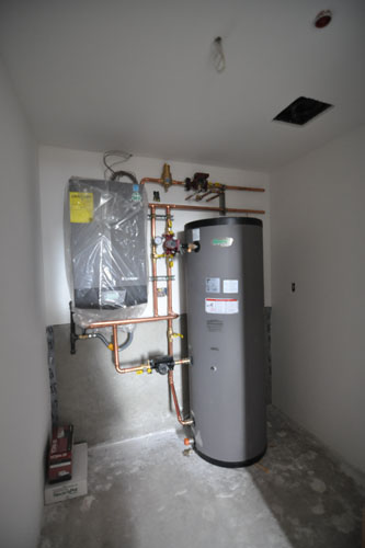 Instant hot water plus storage tank