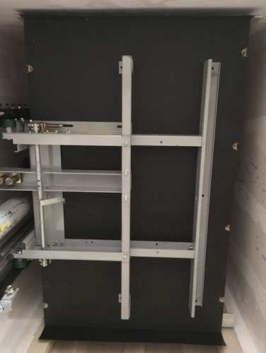 Elevator car above