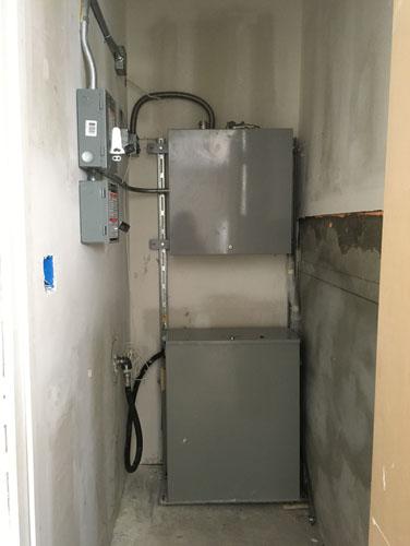 Elevator equipment installed