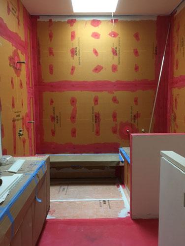 Back bathroom waterproofing