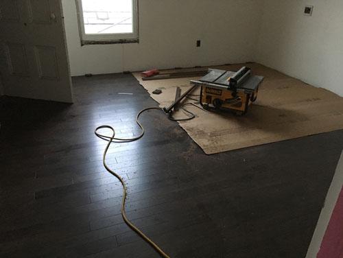 Flooring done in Bedroom 2