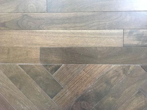 The herringbone floor in detail