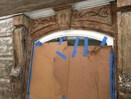 Parlour window head stripped