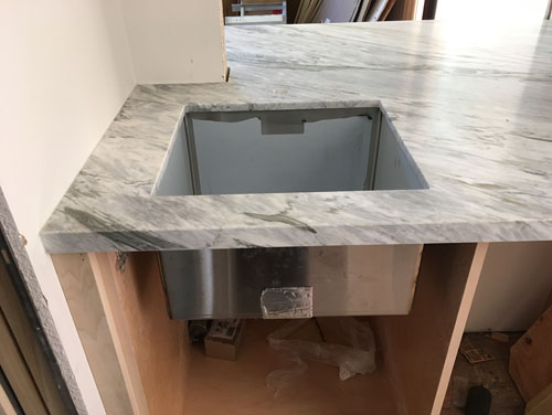 The pantry sink from the pantry side