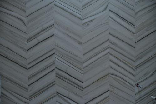 Chevron tiles close up