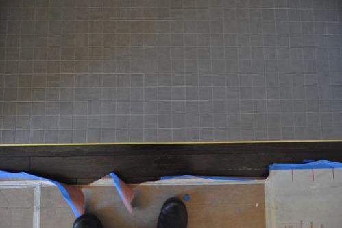 Wood-tile transition