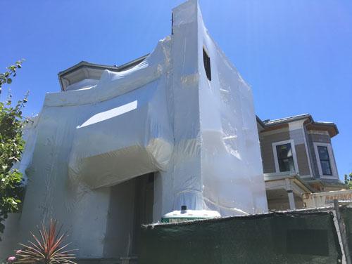 Restoration shrinkwrap expands