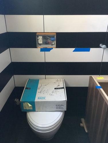 Middle bath toilet