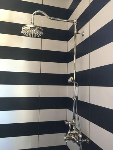 Middle bathroom shower