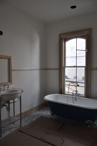 Clawfoot tub installed