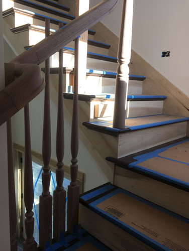 Balusters going in