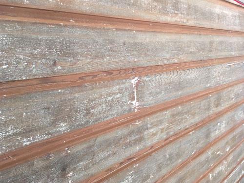 Sanded wood siding