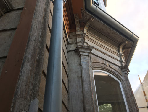 Kitchen bay window stripped