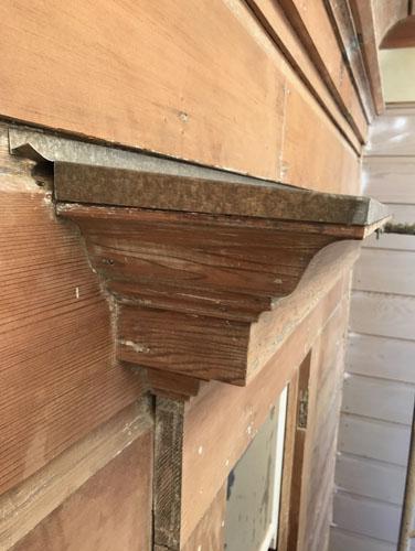 Window cap installed