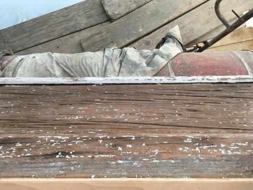 Front bedroom windowsill wood