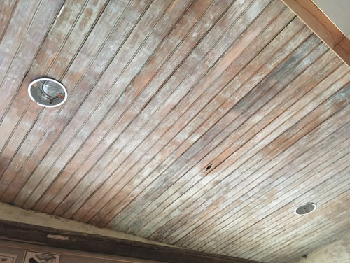 Side porch roof